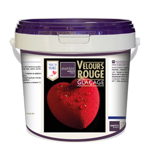 Finition VELOURS ROUGE -  1 kg